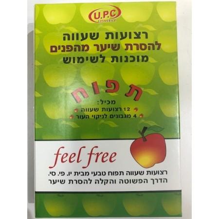 רצועות שעווה מוכנות להסרת שיער מהפנים- תפוח -0