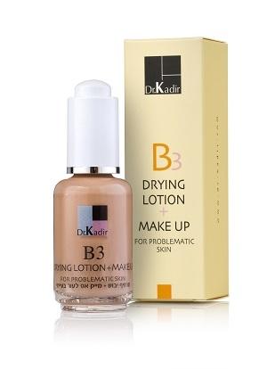 B3 Drying lotion+ makeup- תרחיף יבוש + מייק אפ לעור בעייתי -0