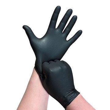 כפפות שחורות ניטריל ללא אבקה- 100 יח'-0