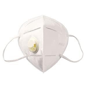 מסכת פנים רפואית עם פילטר בתקן KN95- צבע לבן -0