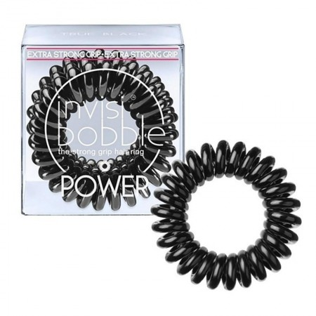 Invisibobble Power -True Black- מארז 3 גומיות בצבע שחור-0