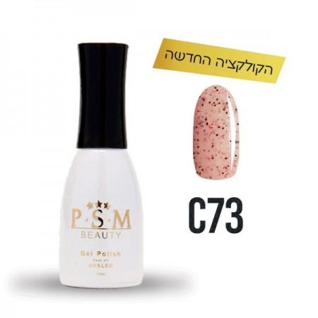 P.S.M BEAUTY לק ג'ל גוון – C73 מטאל-0